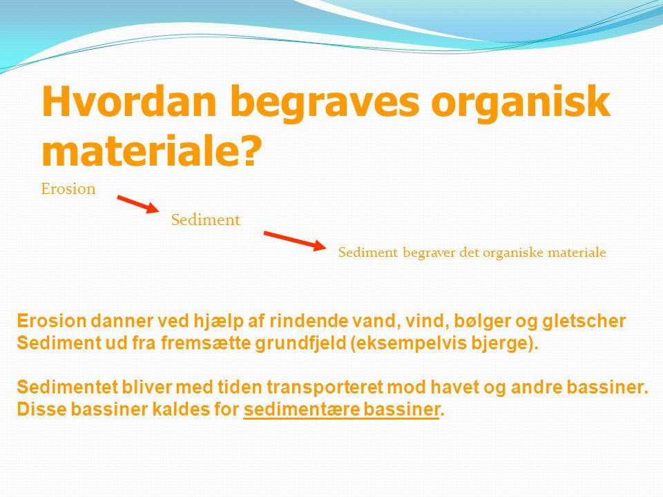 Hvordan begraves organisk materiale