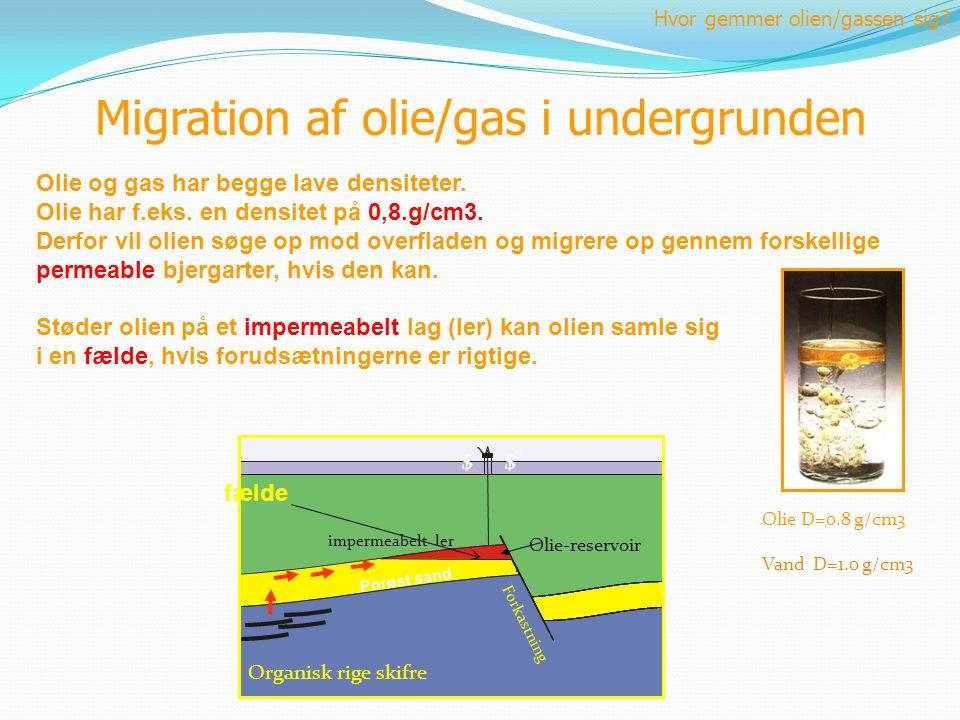 Migration af olie/gas i undergrunden