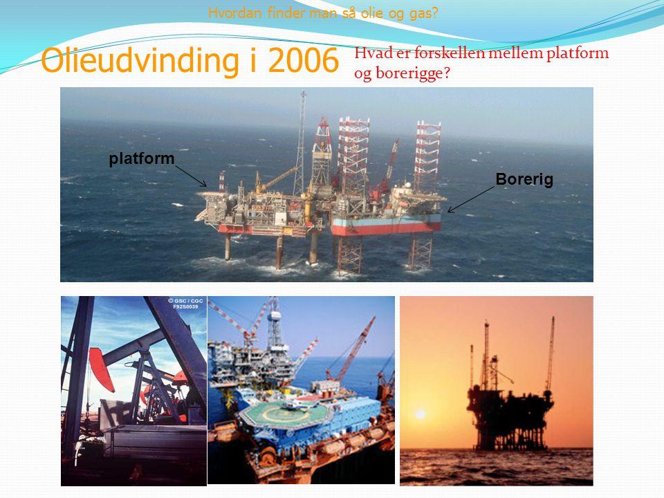 Olieudvinding i 2006 Hvad er forskellen mellem platform og borerigge