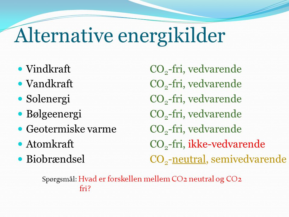 Alternative energikilder