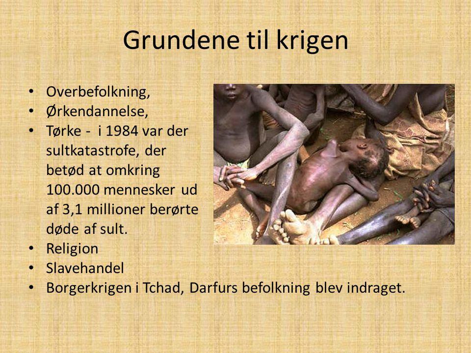 Grundene til krigen Overbefolkning, Ørkendannelse,