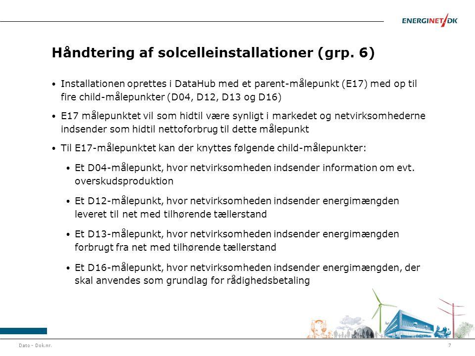 Håndtering af solcelleinstallationer (grp. 6)