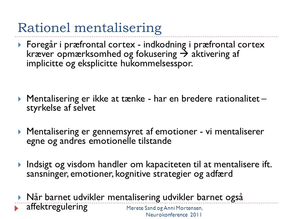 Rationel mentalisering