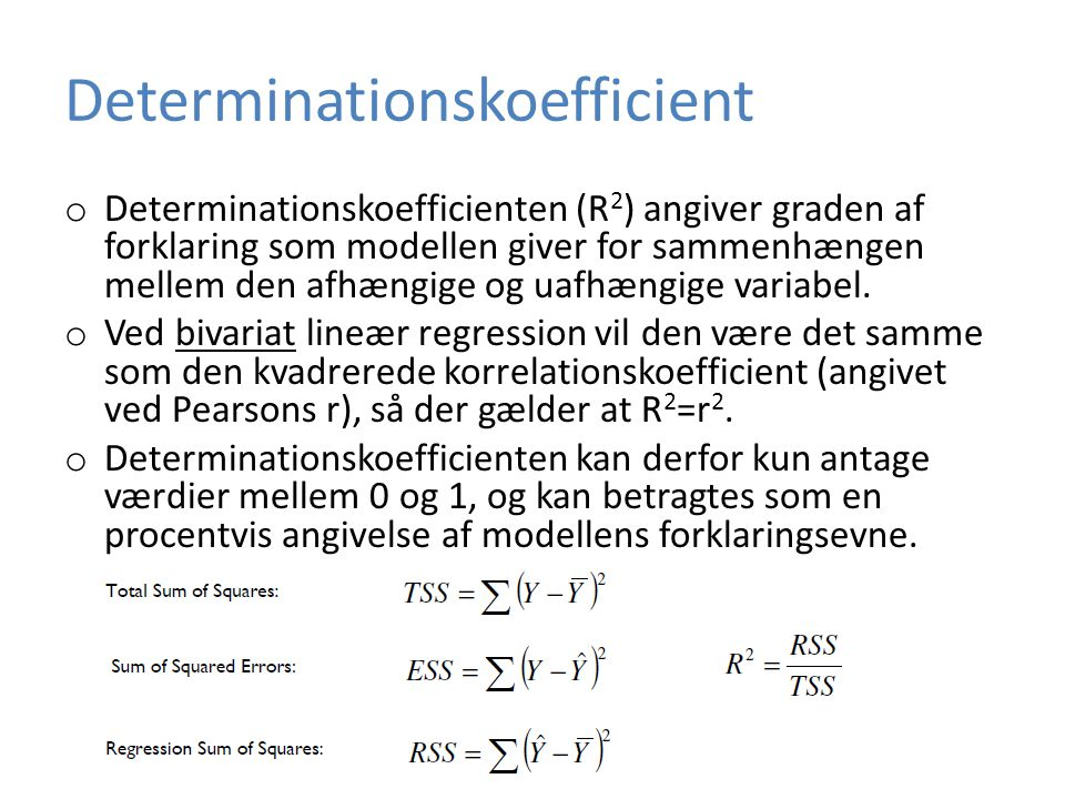 Determinationskoefficient