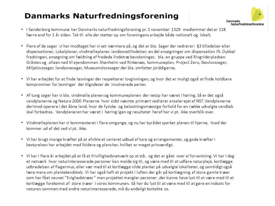 I Sønderborg kommune har Danmarks naturfredningsforening pr