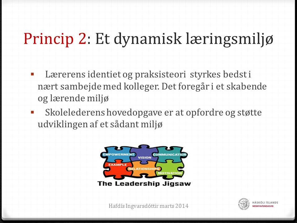 Princip 2: Et dynamisk læringsmiljø