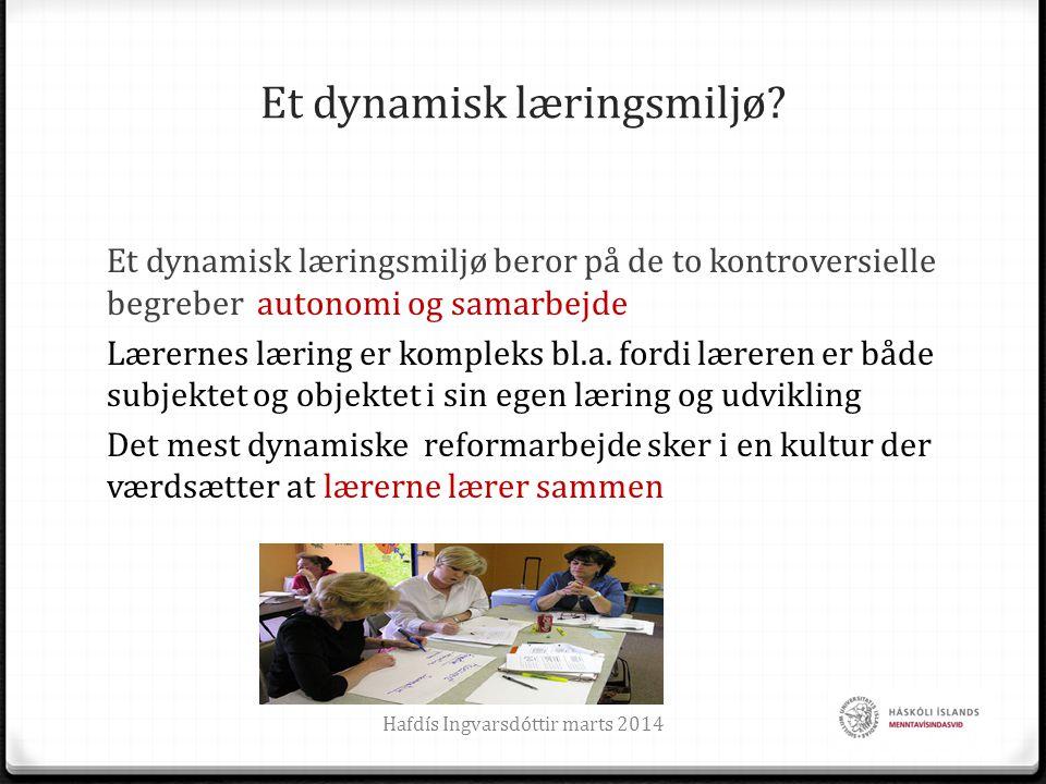 Et dynamisk læringsmiljø