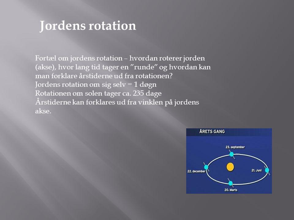 Jordens rotation