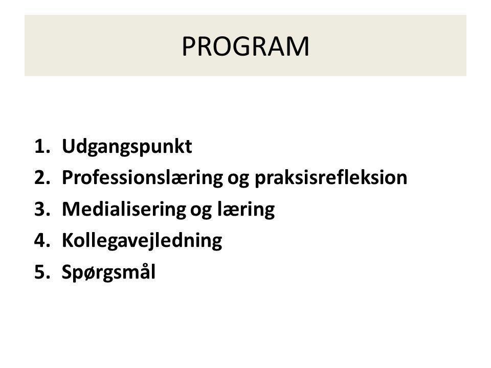 PROGRAM Udgangspunkt Professionslæring og praksisrefleksion