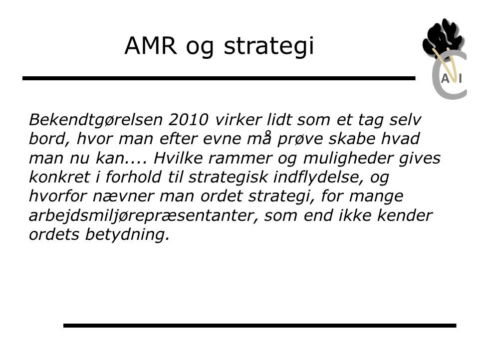 AMR og strategi