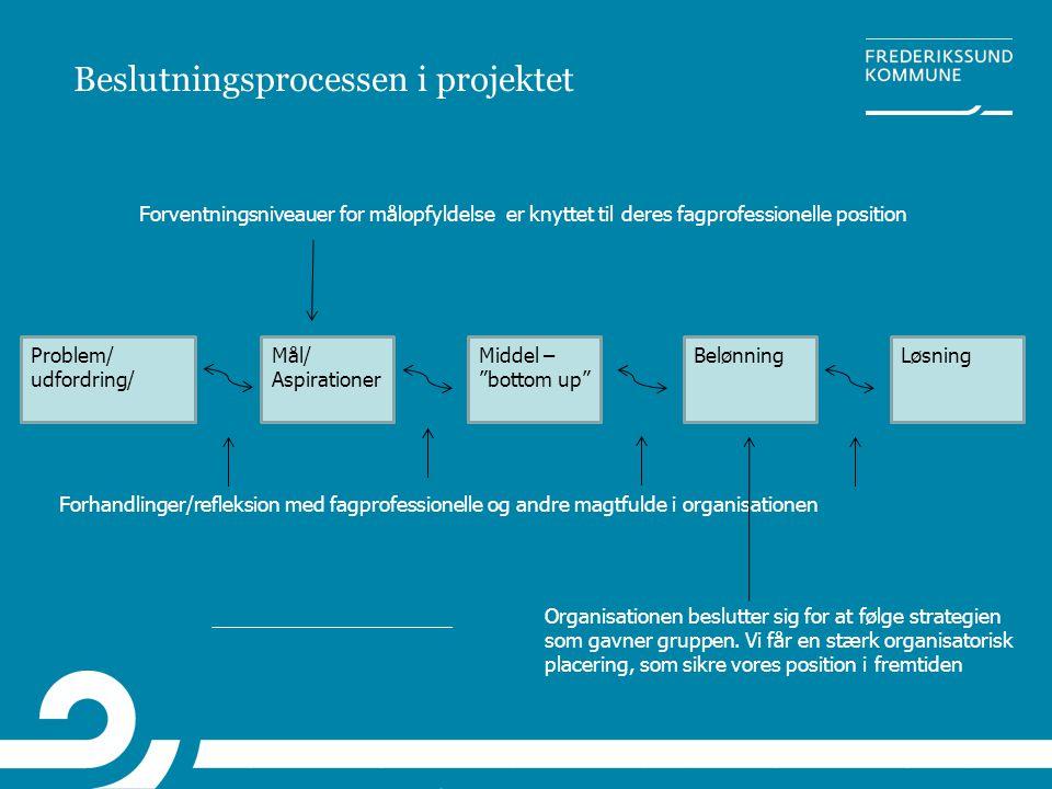 Beslutningsprocessen i projektet