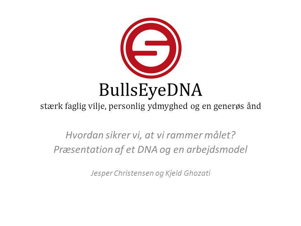 BullsEyeDNA stærk faglig vilje, personlig ydmyghed og en generøs ånd