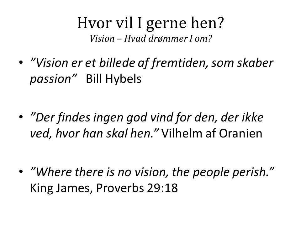 Hvor vil I gerne hen Vision – Hvad drømmer I om