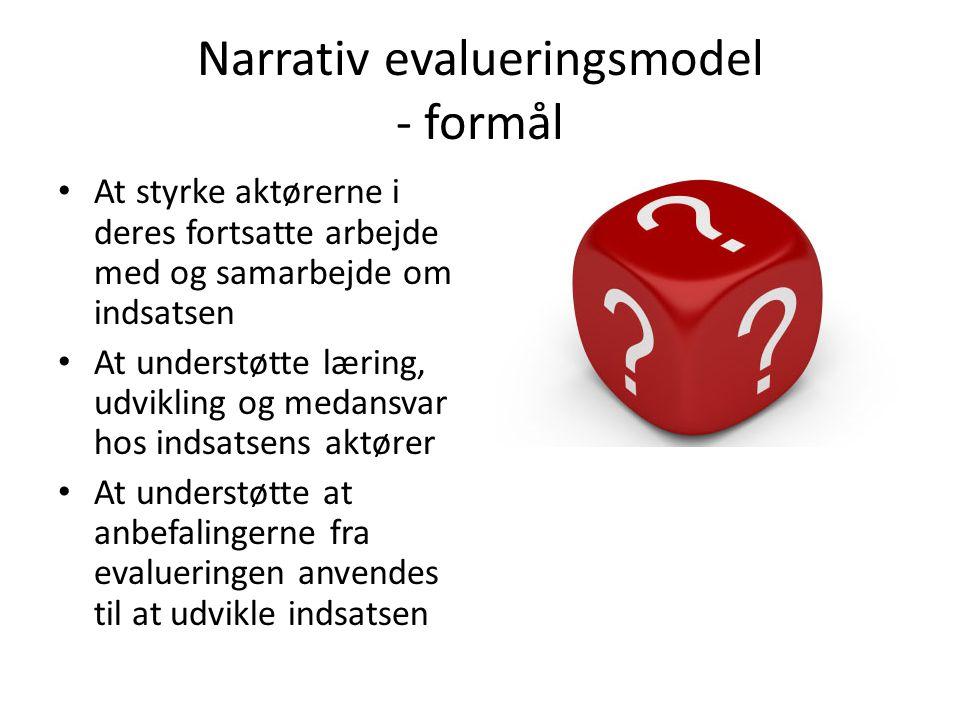 Narrativ evalueringsmodel - formål