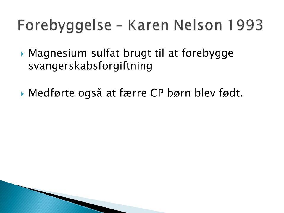 Forebyggelse – Karen Nelson 1993