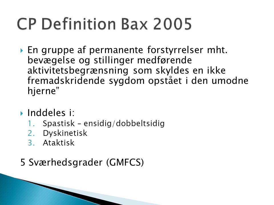 CP Definition Bax 2005
