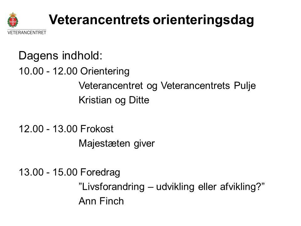 Veterancentrets orienteringsdag