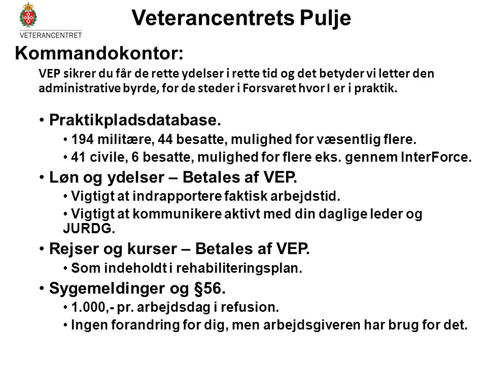 Veterancentrets Pulje