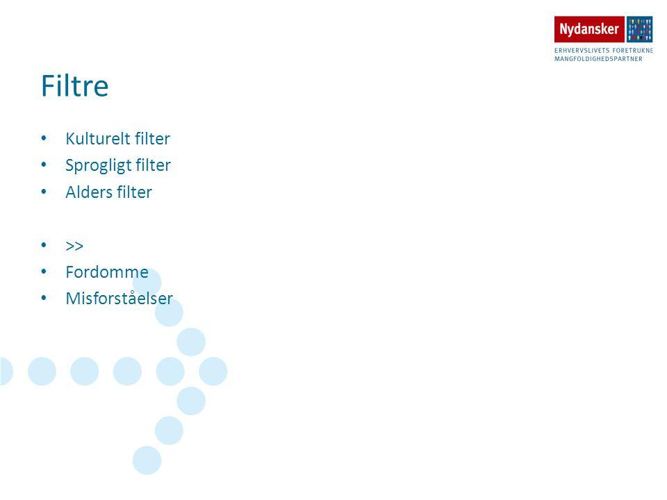 Filtre Kulturelt filter Sprogligt filter Alders filter >>