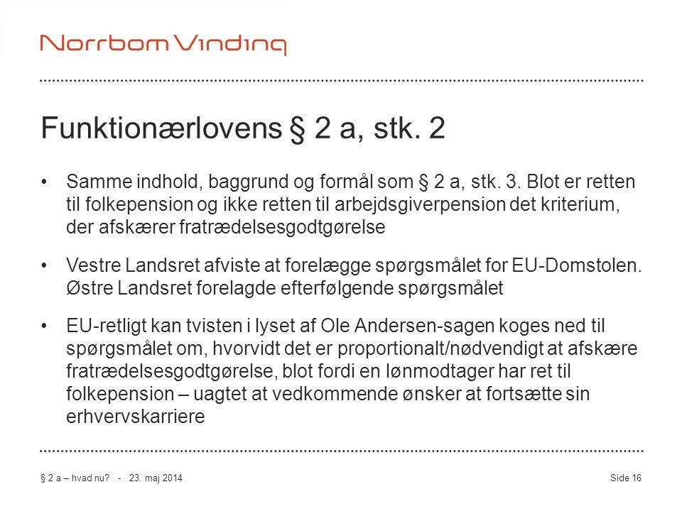 Funktionærlovens § 2 a, stk. 2