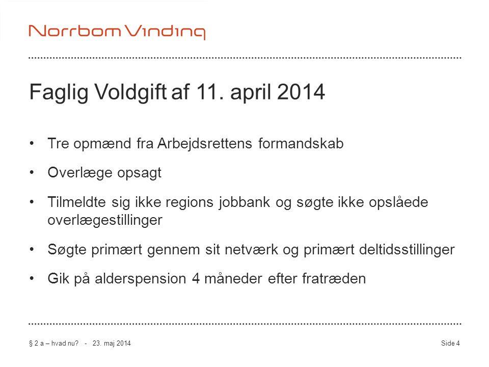 Faglig Voldgift af 11. april 2014