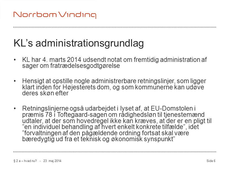 KL's administrationsgrundlag