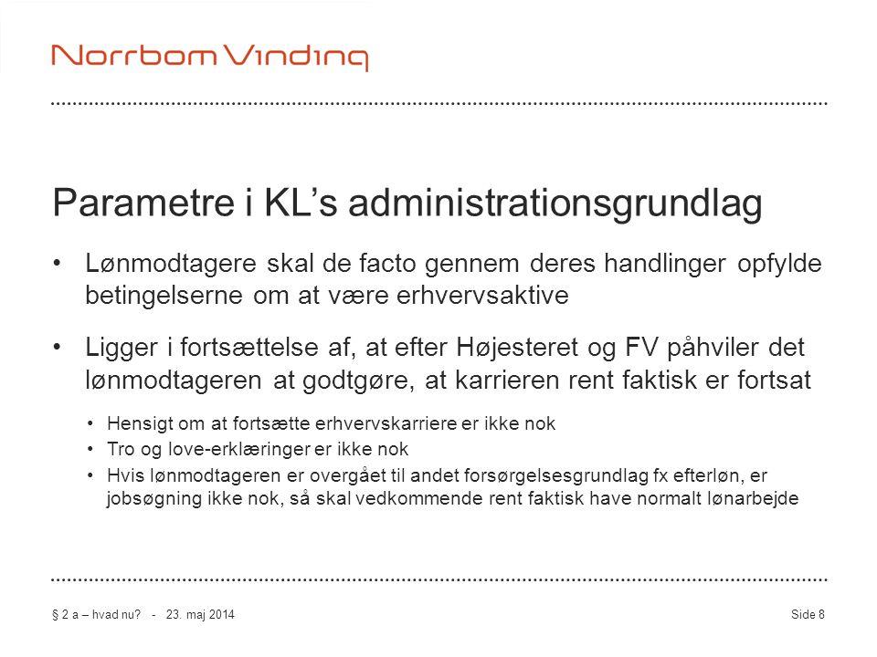 Parametre i KL's administrationsgrundlag