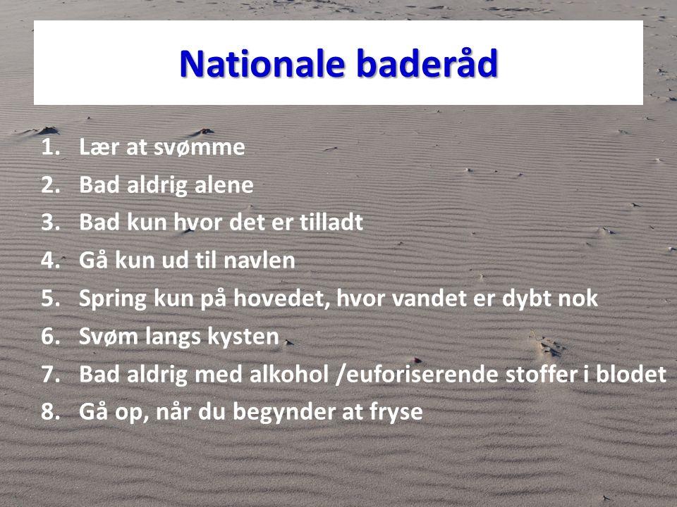 Nationale baderåd Lær at svømme Bad aldrig alene