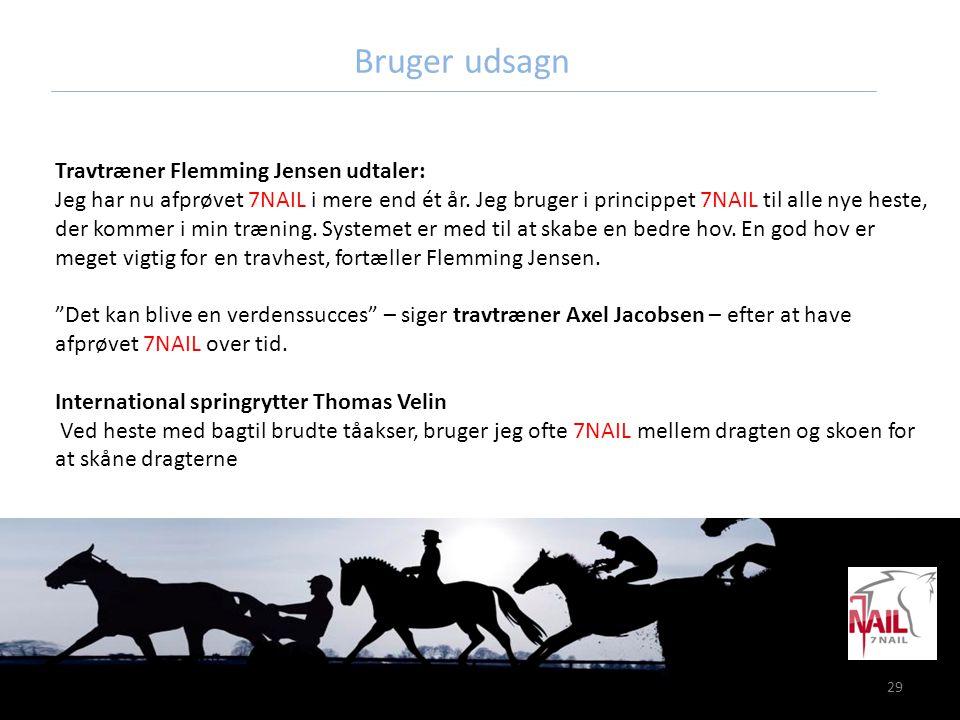 Bruger udsagn Travtræner Flemming Jensen udtaler: