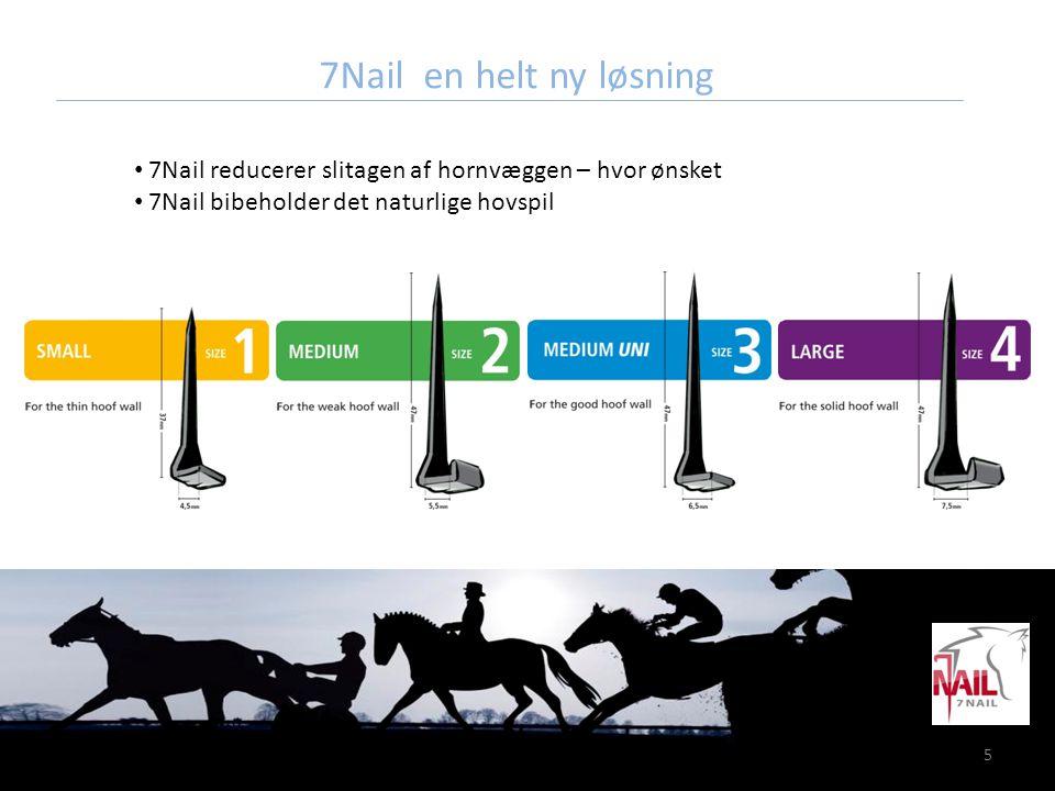 7Nail en helt ny løsning 7Nail reducerer slitagen af hornvæggen – hvor ønsket.