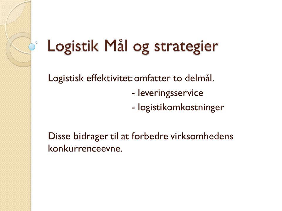 Logistik Mål og strategier