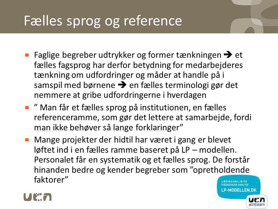 Fælles sprog og reference