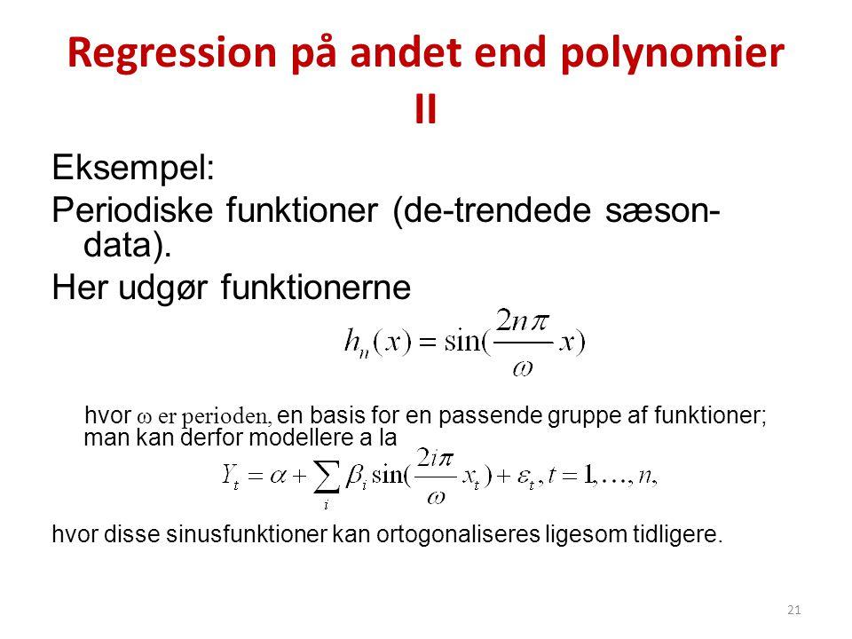 Regression på andet end polynomier II
