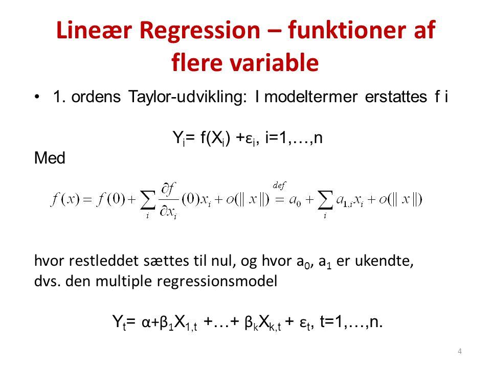 Lineær Regression – funktioner af flere variable