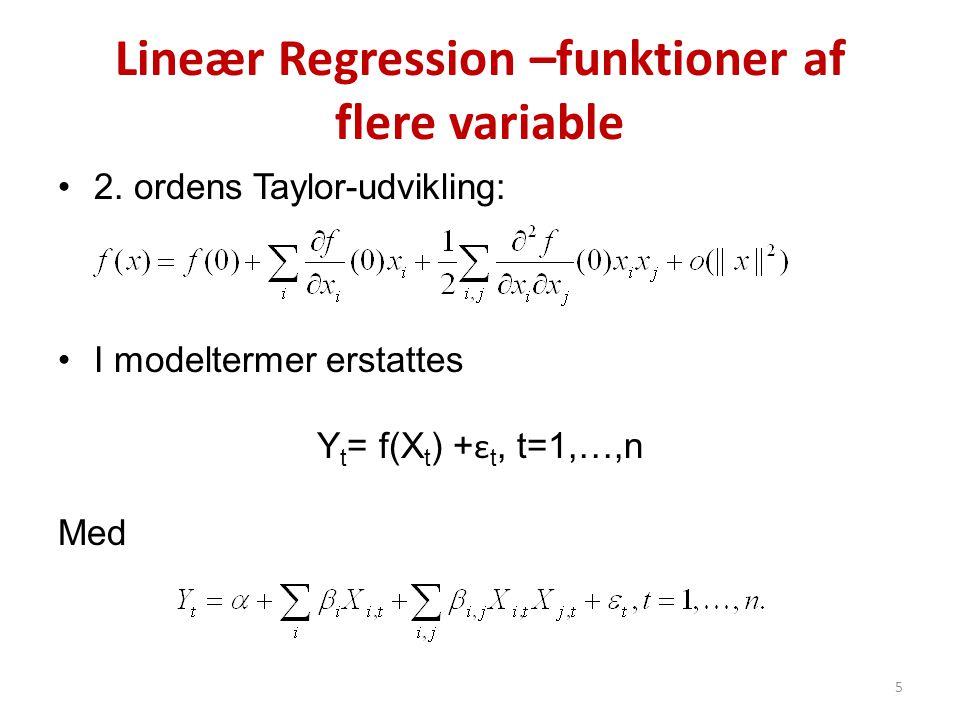 Lineær Regression –funktioner af flere variable