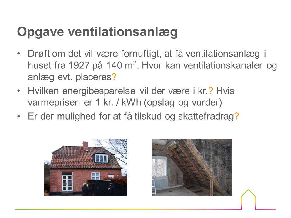 Opgave ventilationsanlæg
