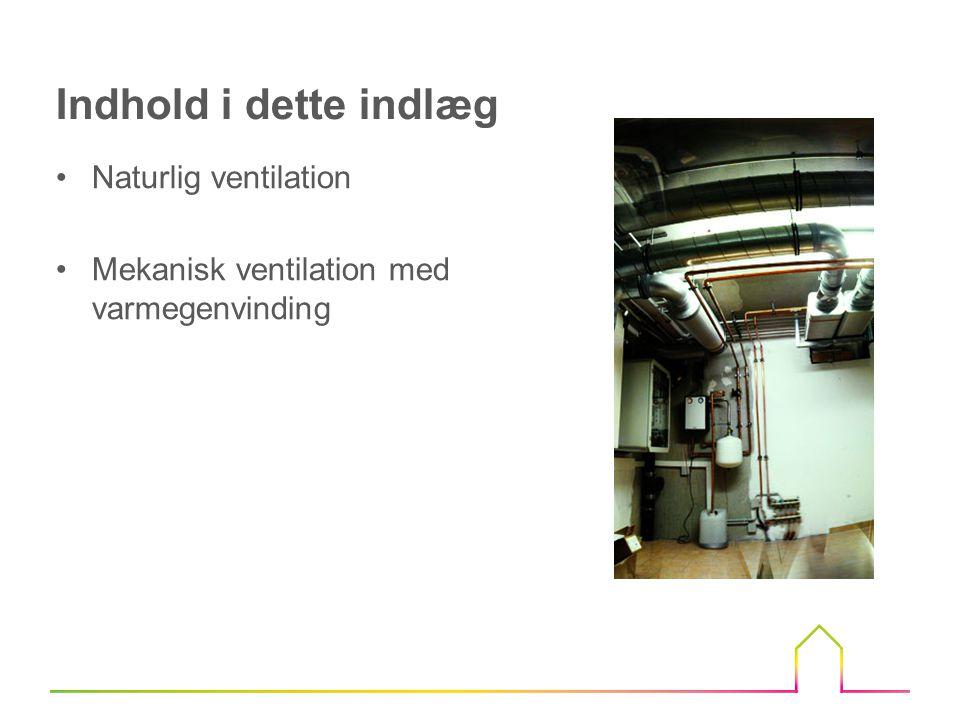 Indhold i dette indlæg Naturlig ventilation