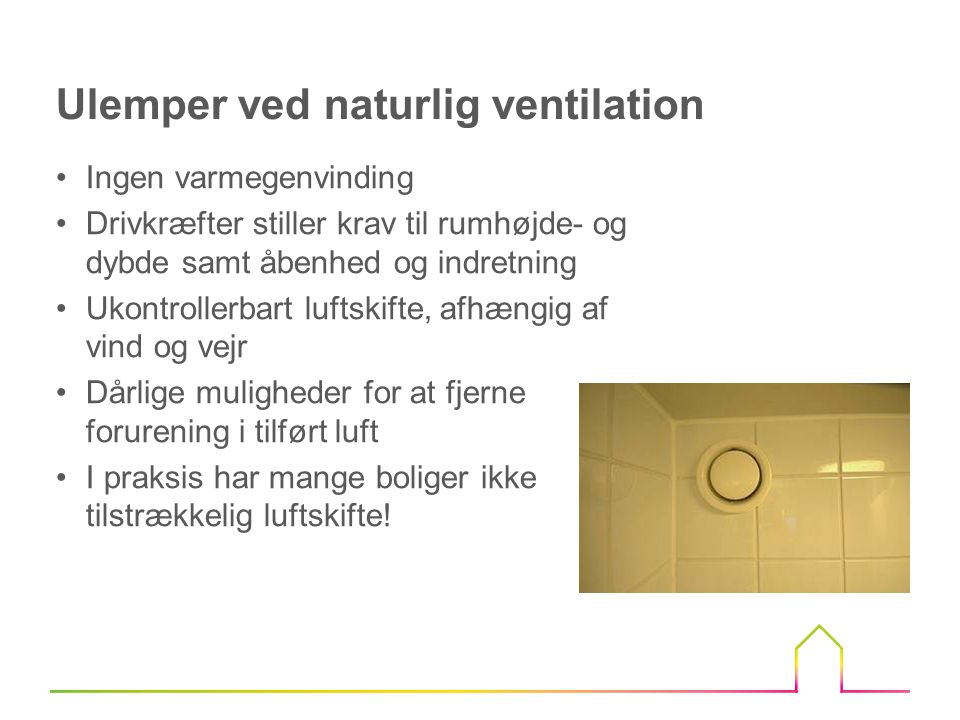 Ulemper ved naturlig ventilation