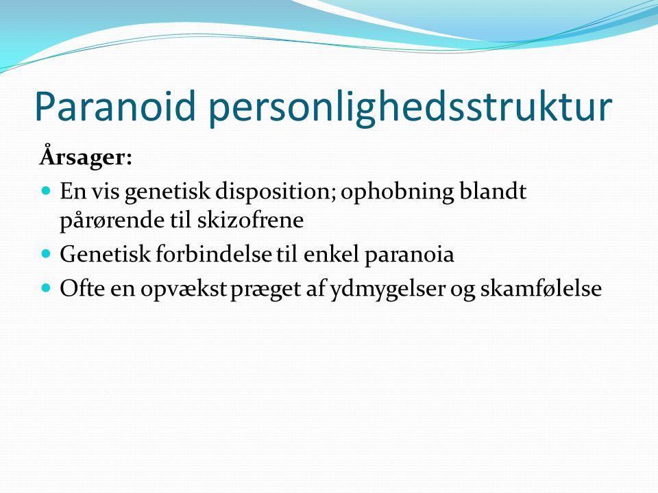 Paranoid personlighedsstruktur