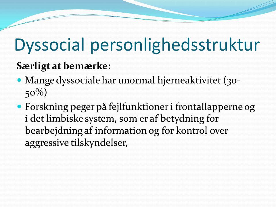 Dyssocial personlighedsstruktur