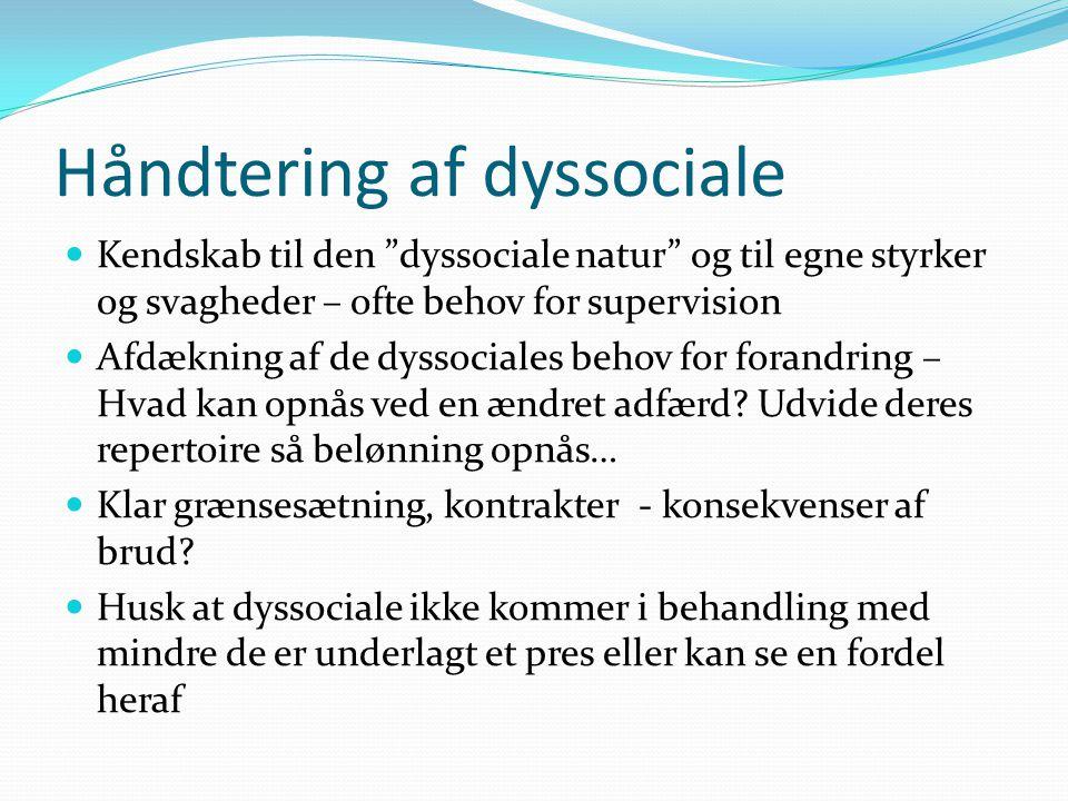 Håndtering af dyssociale