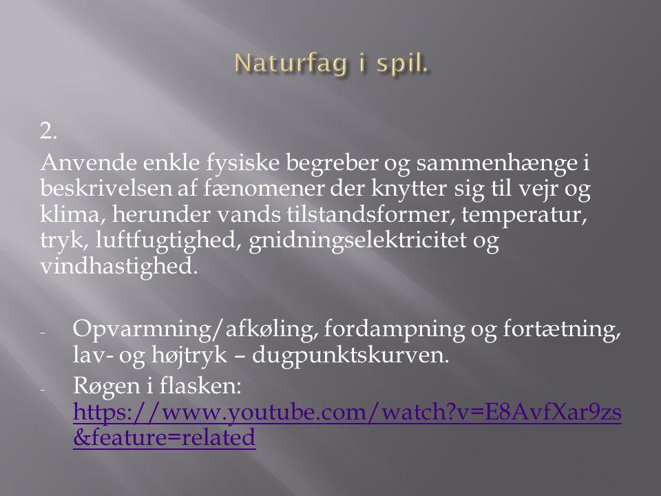 Naturfag i spil. 2.