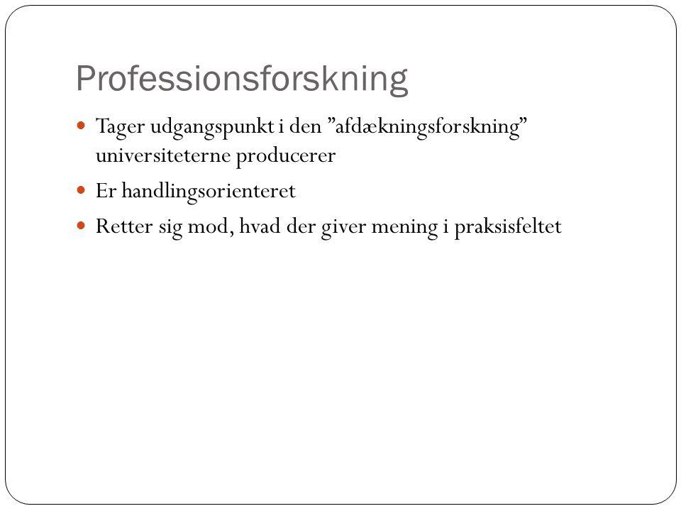 Professionsforskning