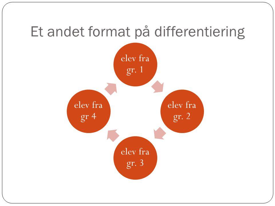 Et andet format på differentiering