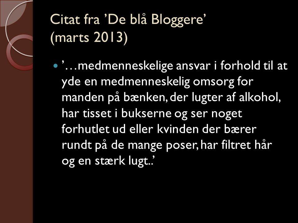 Citat fra 'De blå Bloggere' (marts 2013)