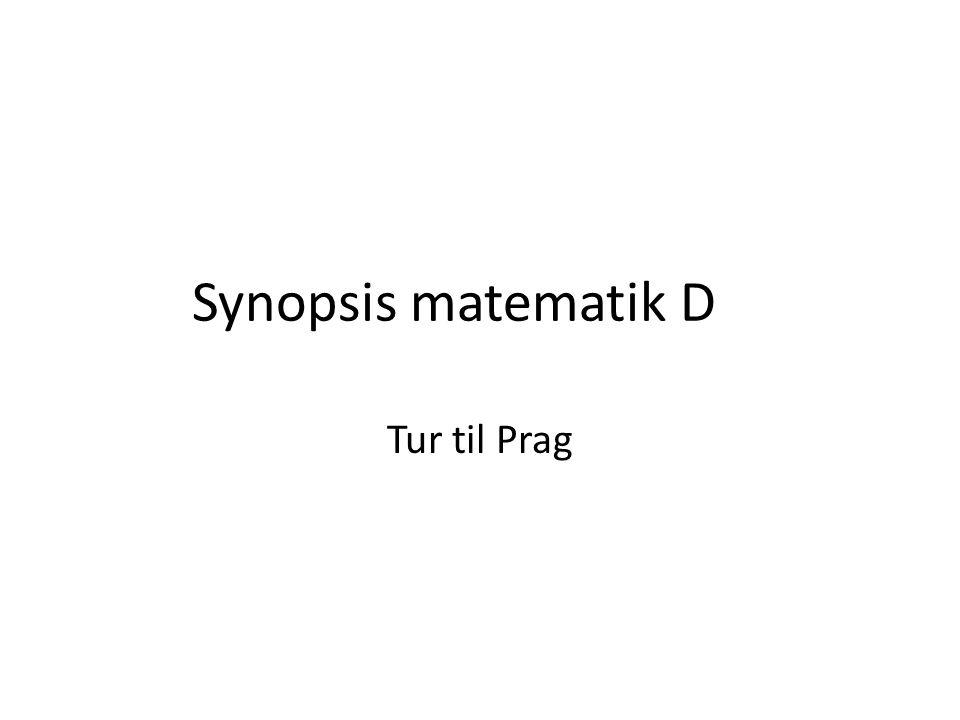 Synopsis matematik D Tur til Prag