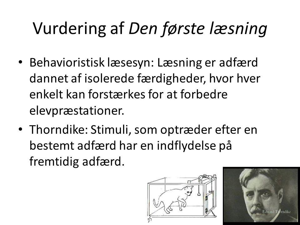 Vurdering af Den første læsning