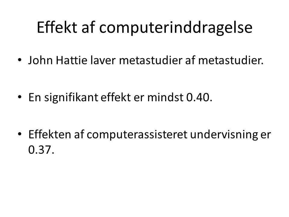 Effekt af computerinddragelse
