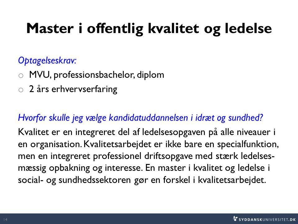 Master i offentlig kvalitet og ledelse