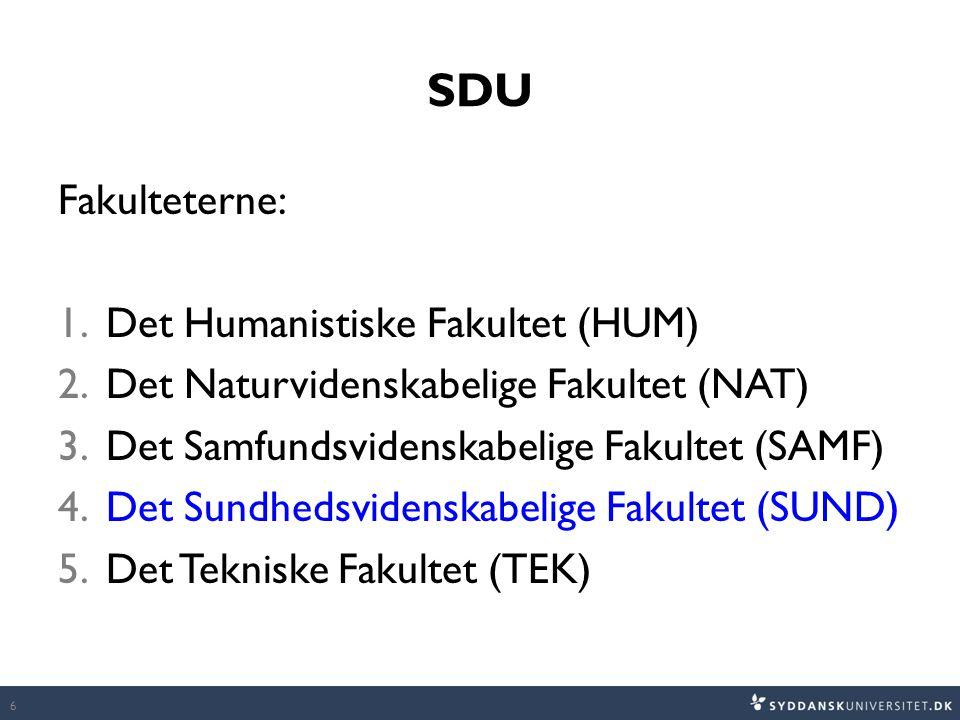 SDU Fakulteterne: Det Humanistiske Fakultet (HUM)